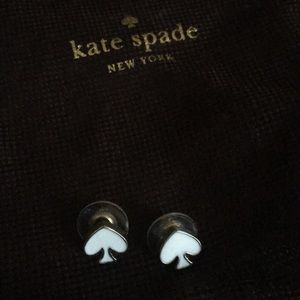 Kaye Spade stud white earrings